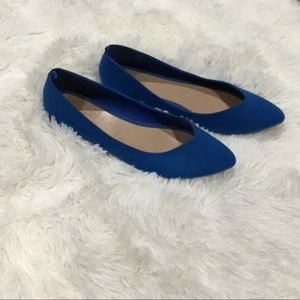 Old Navy Blue Suede Flats